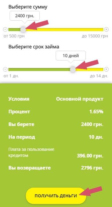 как взять займ в ЦентроКредит Украина
