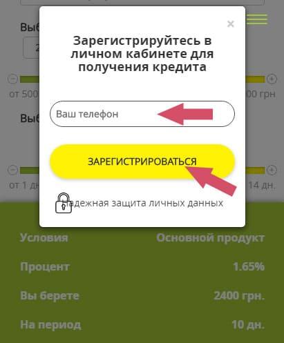 как оформить CentroCredit в Украине