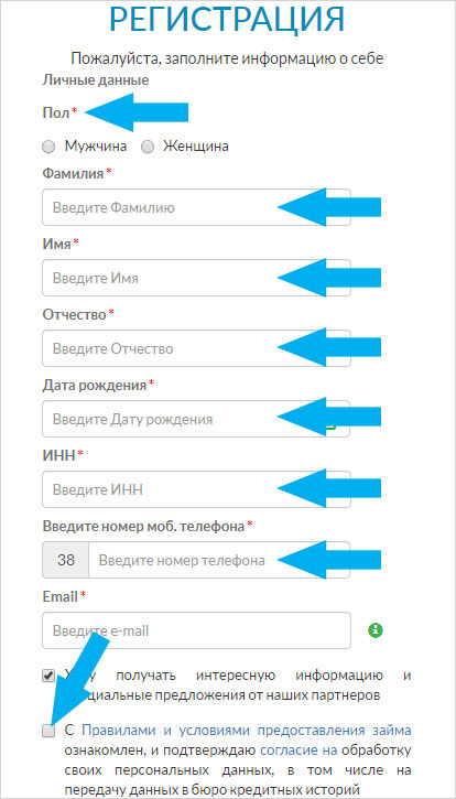 інструкція як оформити позику в Ваша Готівочка в Україні