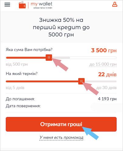 как оформить займ в Май Валет Украина, пошаговая инструкция